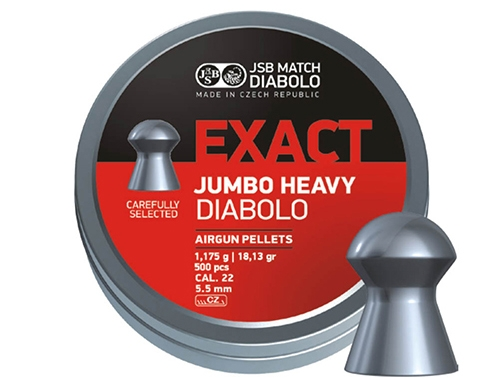 JSB Diabolo Jumbo Exact Heavy .22 1,175g (500)